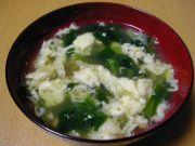小松菜入りかき玉汁
