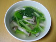小松菜としめじの中華風スープ