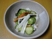 長芋のわさび酢和え