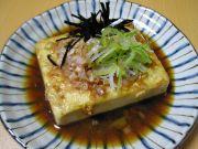 豆腐の鍋照り焼き