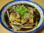 豆腐の中華風きのこあんかけ